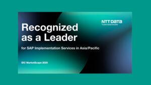 NTT DATA obtiene la calificación de proveedor líder en el informe IDC Marketscape