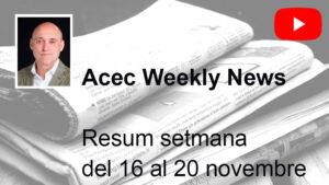 JORDI MARÍN / Resum setmana del 16 al 20 novembre 2020