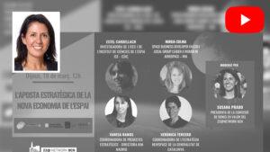 """Susana Prado ha moderat la reunió """"L'aposta estratègica de la nova economia de l'espai"""""""