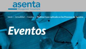 Webinar Lean aplicado en los Procesos de Servicio